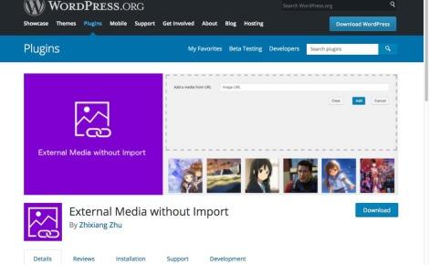 一个让WordPress媒体库支持外链图片的插件